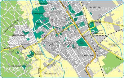 kiskunhalas térkép Hiszi Map Kft. T   Bács Kiskun megye/county/Kiskunhalas térkép   dél