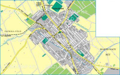 Hiszi Map Kft T Bacs Kiskun Megye County Kiskunmajsa Terkep