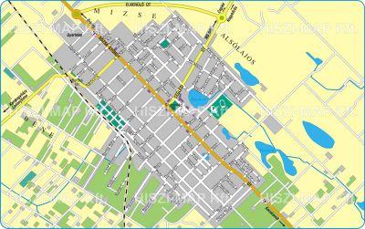Hiszi Map Kft T Bacs Kiskun Megye County Lajosmizse Terkep