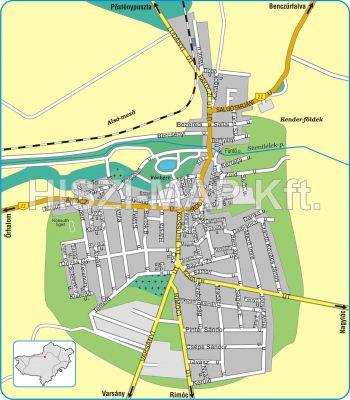 Hiszi Map Kft T Nograd Megye County Szecseny Terkep