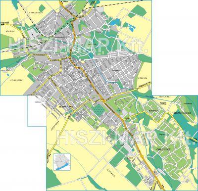 Hiszi Map Kft T Veszprem Megye County Papa Terkep